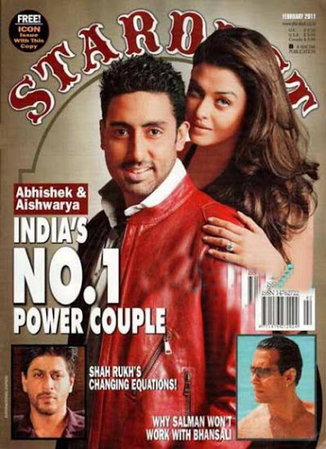 Aishwarya Rai and Abhishek Bachchan on Stardust Magazine Cover