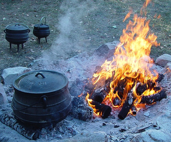 Camping w chris new campfire cooking show this summer for How to cook in a dutch oven over a campfire