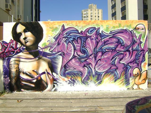 graffiti de izak ft vegam brasil