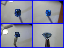 [RARE] NON HEAT GLITERRING BLUE SAPPHIRE Certf ; AMAZING LUSTER and COLOUR!