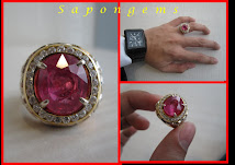 PINKISH RED RUBY TANZANIA MENS RING