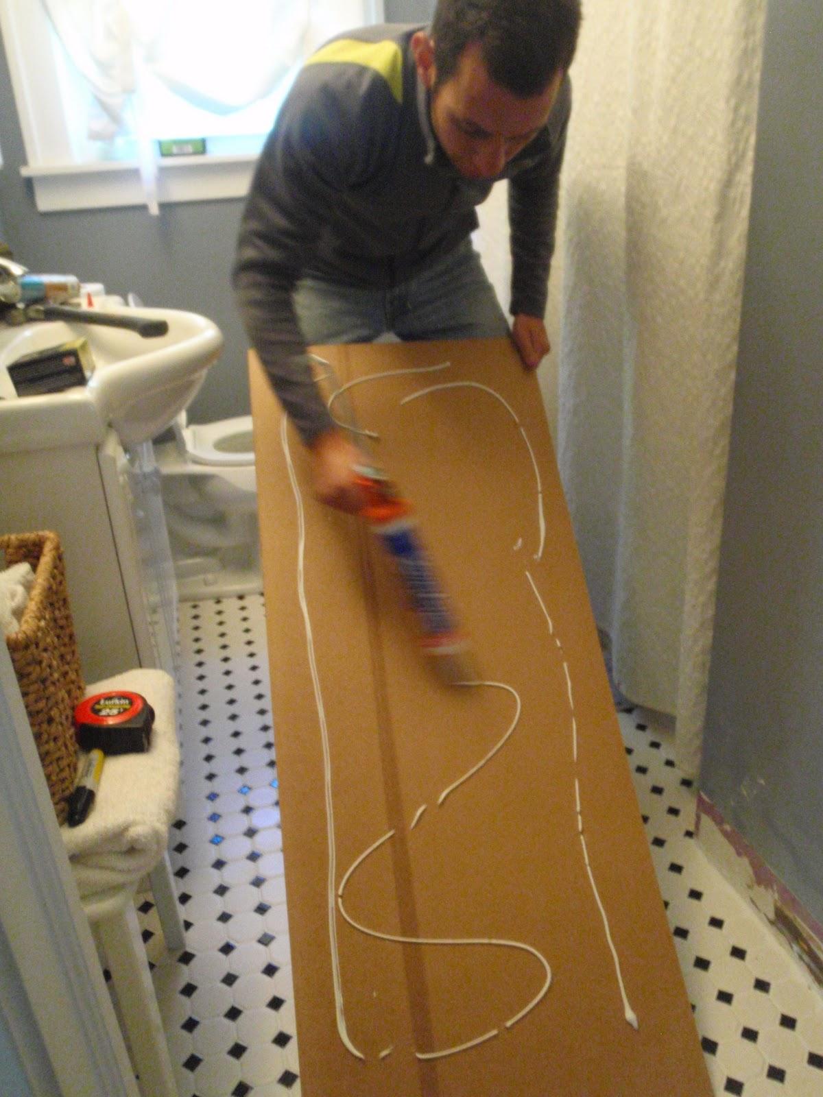 Hammers and high heels bathroom redo installing - How to install beadboard in a bathroom ...