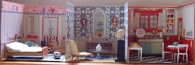 Fold Away House Vintage Fold-away Doll House