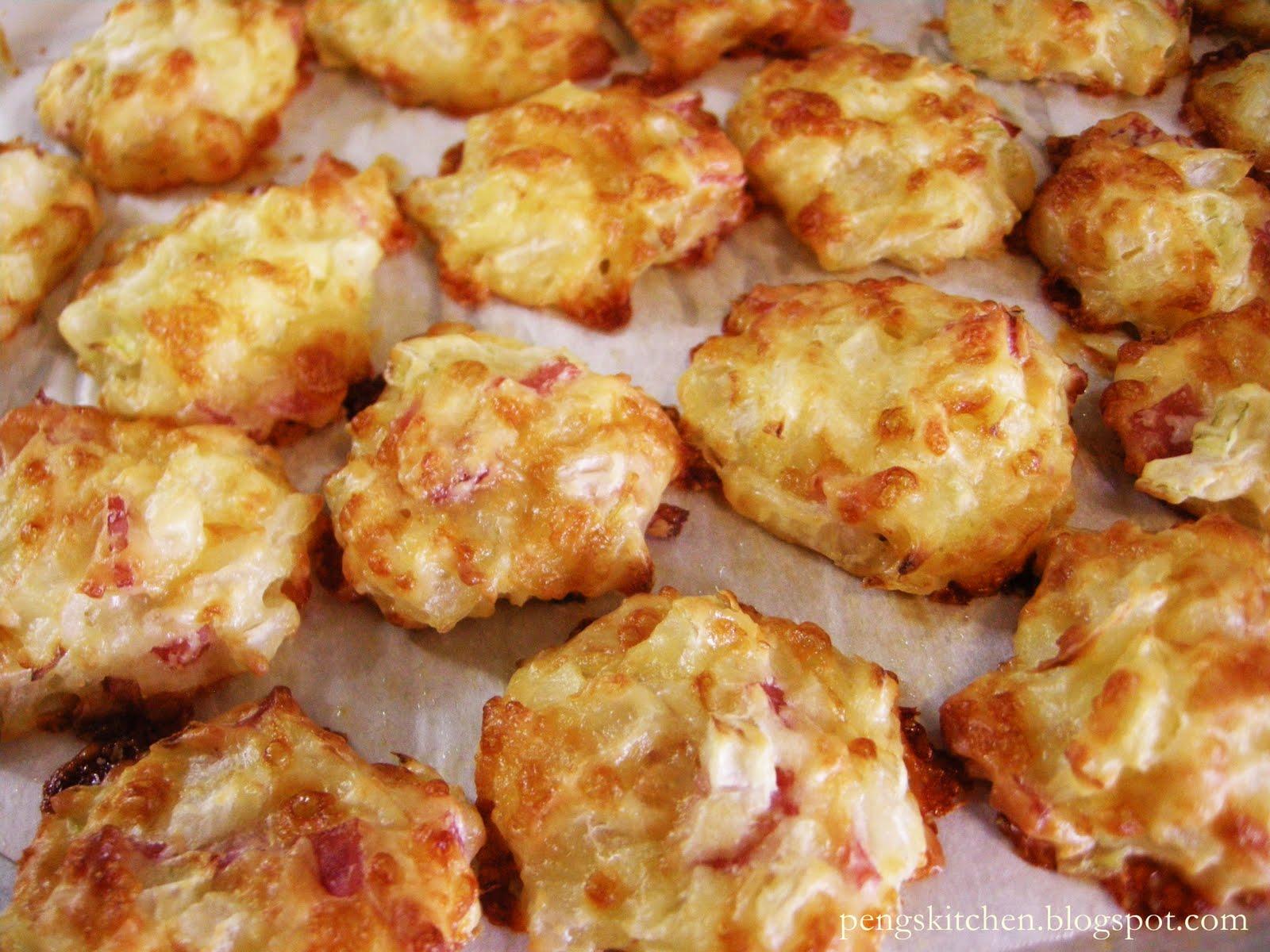 Peng's Kitchen: Cheese & Ham Puffs