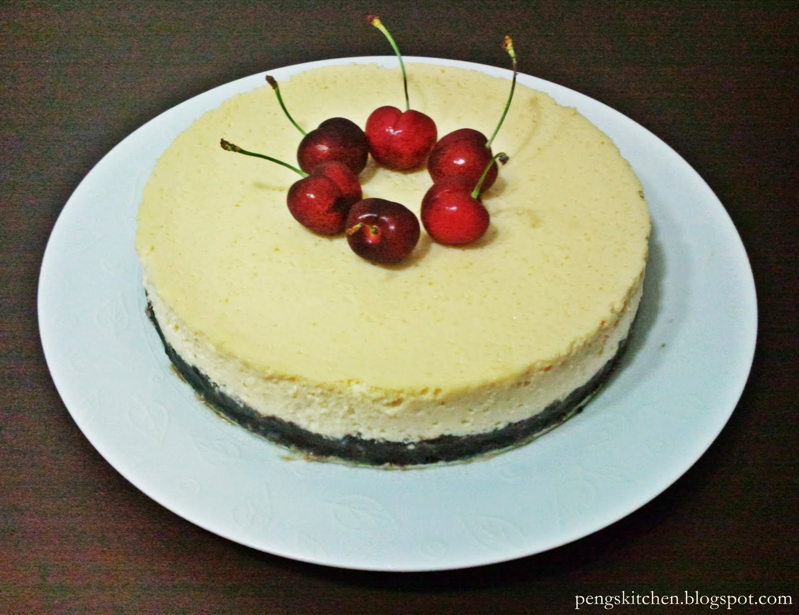 Peng's Kitchen: Baked Tofu Cheesecake