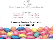We will be open Easter Saturday (10.00am17.00pm), Easter Sunday . scan