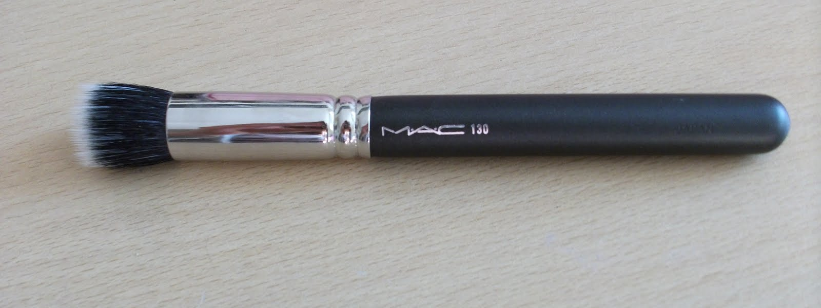 mac liquid foundation brush. i use it to apply my liquid foundation and think the key with this brush is less buff into skin really well. mac