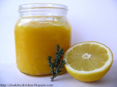 Lemon curd al timo