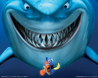 Salty popcorn finding nemo a genuine human in every fish for Blue fish dental