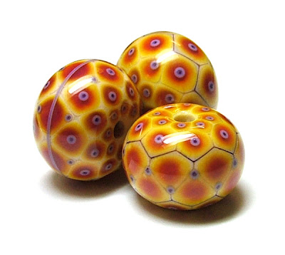 Banana & Pomegranate Focal Beads