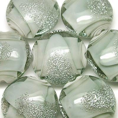 Lampwork Lentil Beads