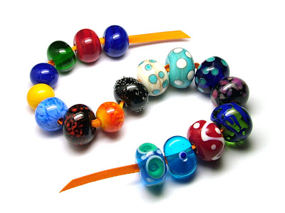 Joy's First Lampwork Beads