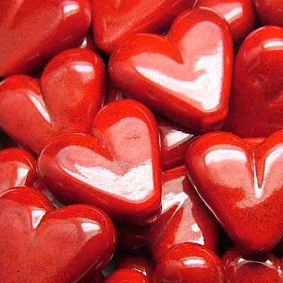 Lampwork Glass Heart Beads