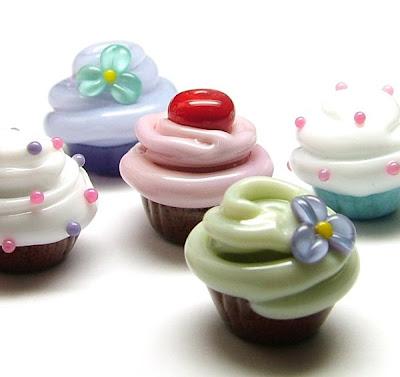 Glass Cupcake Beads