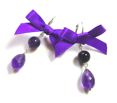 'Purple Berry' Earrings by Janine Byrom