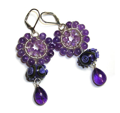 'Violet Whisper' Earrings by Janine Byrom
