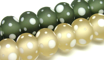 Etched Lampwork Glass Beads