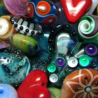 Assorted Lampwork Glass Beads