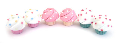 Lampwork Cupcake Beads With Sprinkles