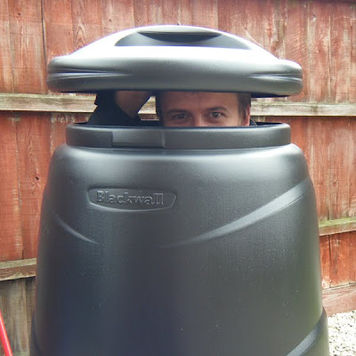 Chris in the compost bin