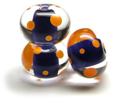 Lampwork Glass Bead Trio