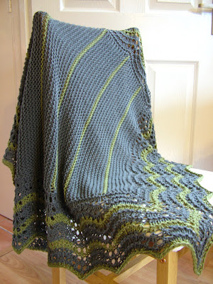 Handknitted 'Hap Blanket'