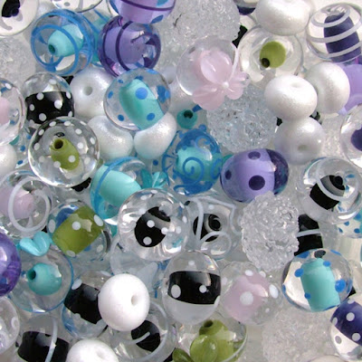 Lots of lampwork glass beads!