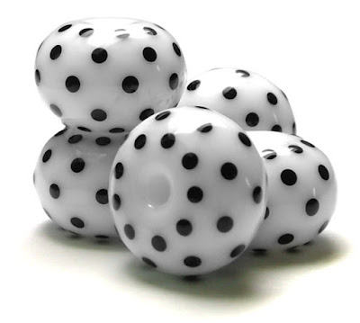 'Black & White Polka Dots'