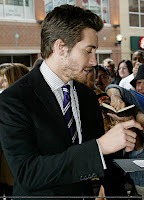 Jake signs autographs at the Brokeback Mountain TIFF screening