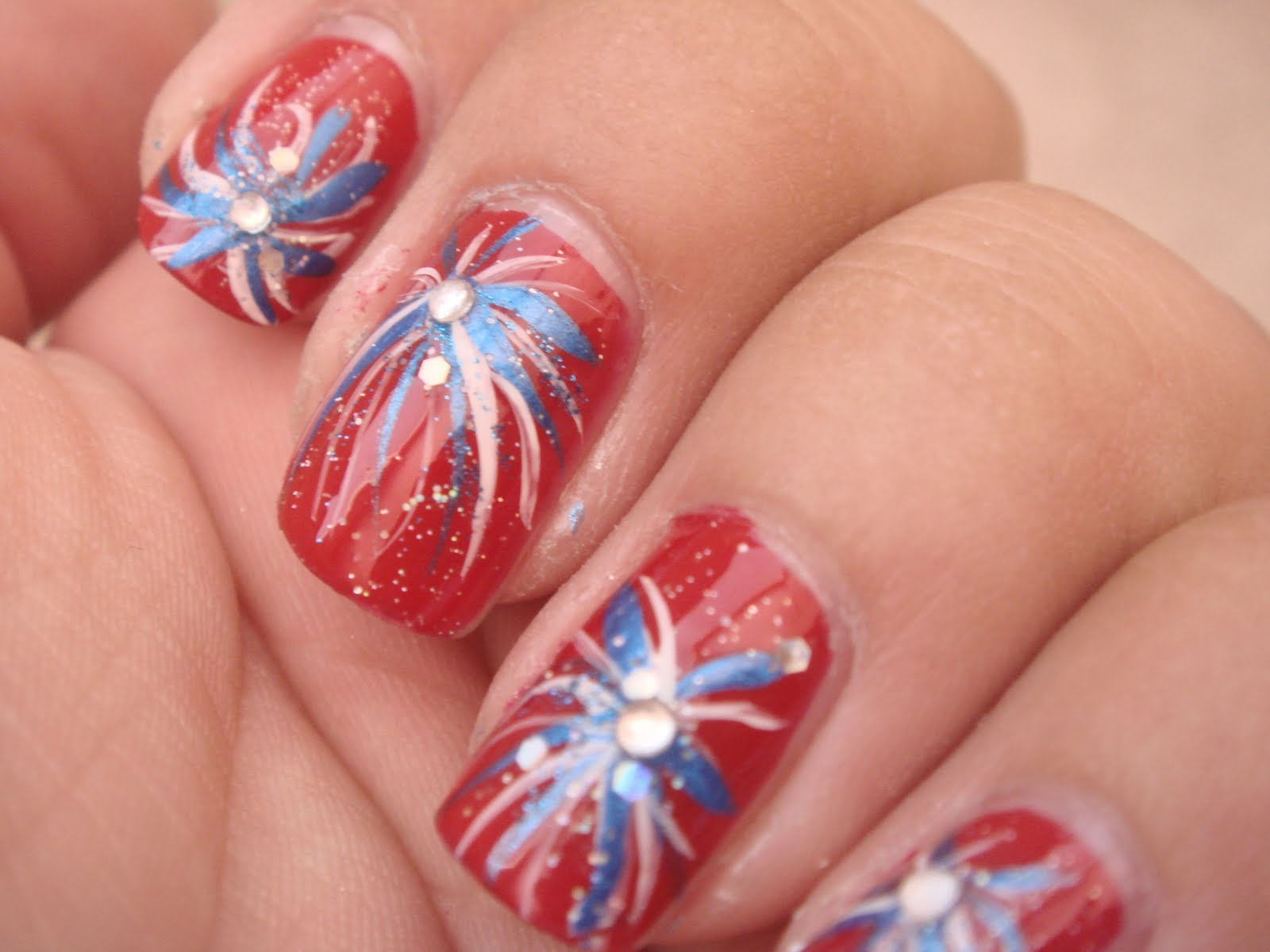 All nail and cosmetics 4th of july nails 4th of july nails prinsesfo Image collections