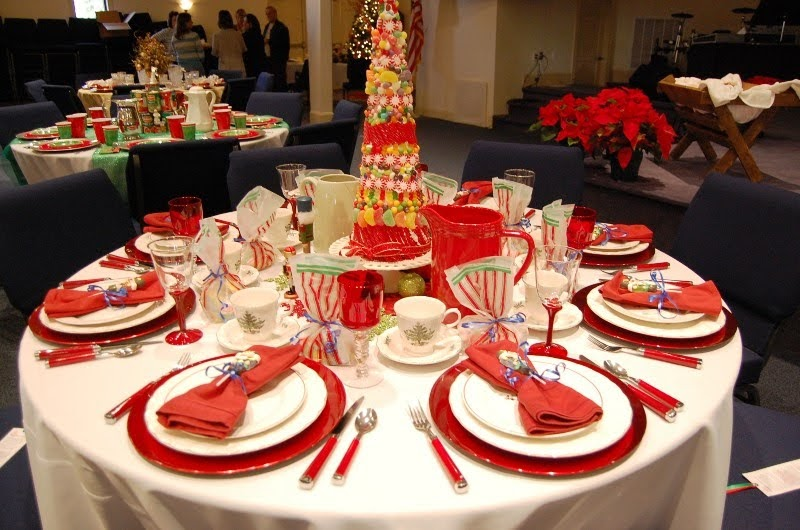 Southern Seven Christmas tea table ~ 152917_Decorating Ideas For Church Christmas Party