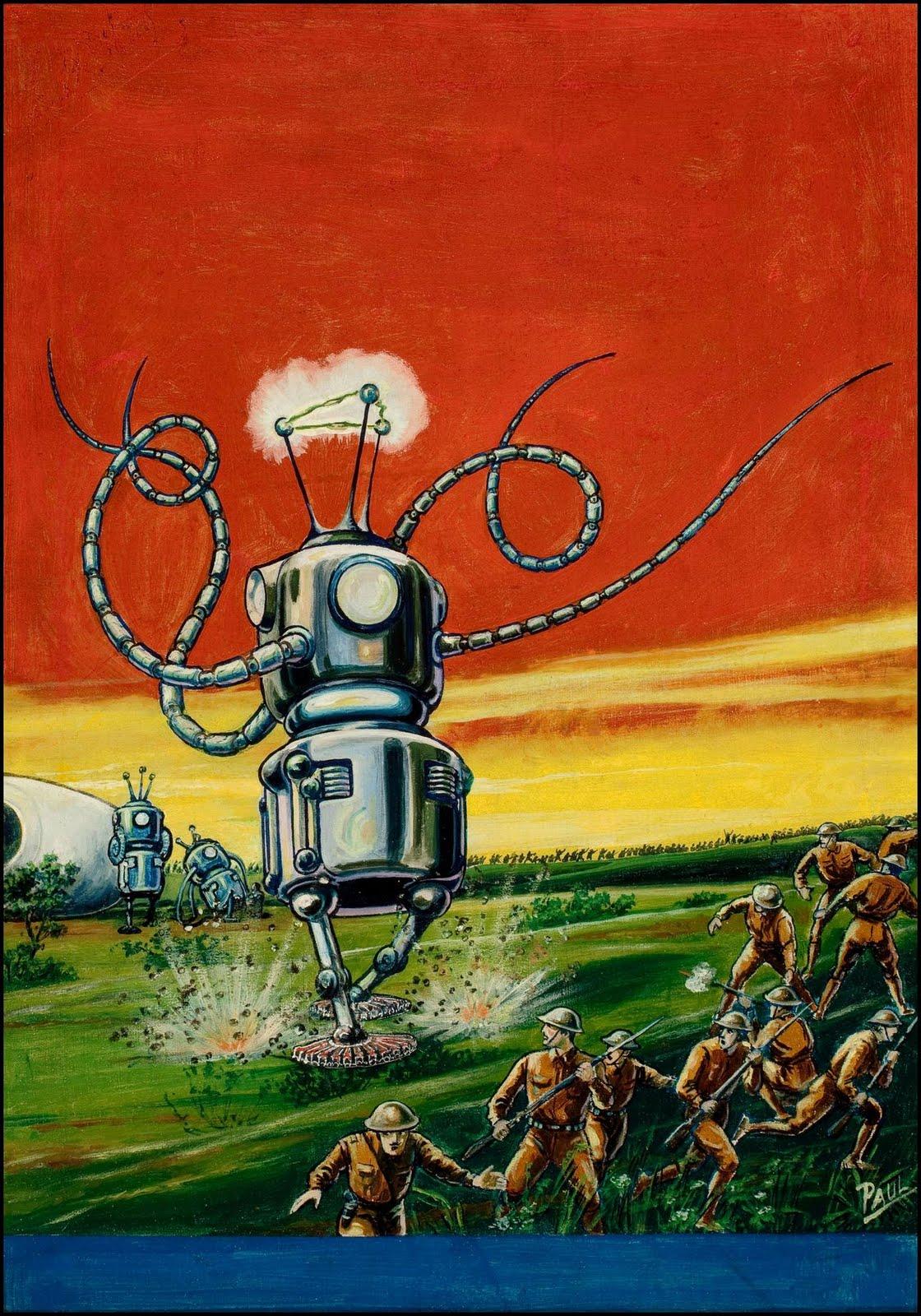 science fiction alien robots