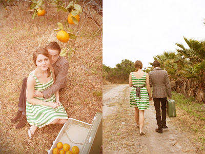 oranges citrus wedding inspiration