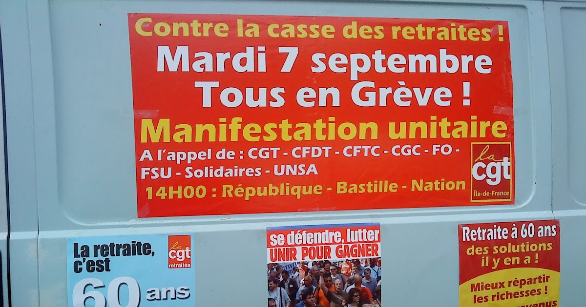 Reforme des retraites 7 septembre 2010 paris for Chambre de commerce et d industrie de paris ccip