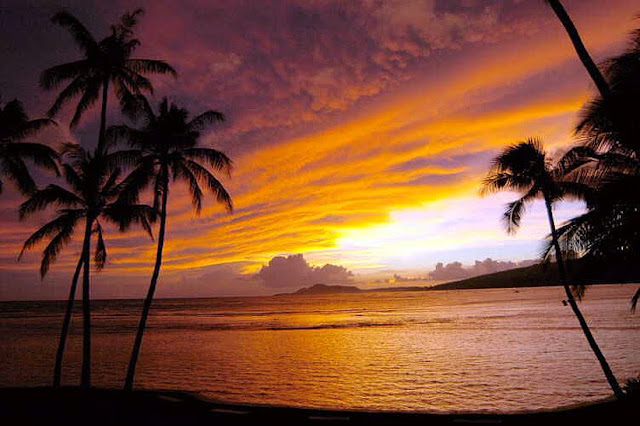 Hawaii beaches sunset
