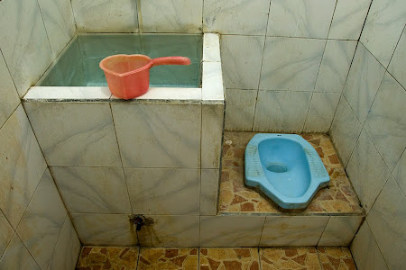 Bathroom in Hotel Moronyoto, Probolinggo, Java, Indonesia © Matt Prater