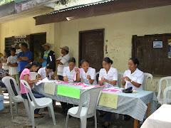 Nurses registering patients at Silik  Elem.
