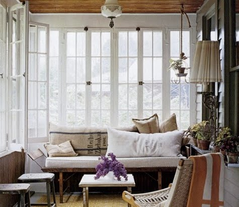 look at these lovely porches and patios wouldnt you just love to curl up with a good book on a warm summer afternoon in one of these spaces - Pretty Porches And Patios