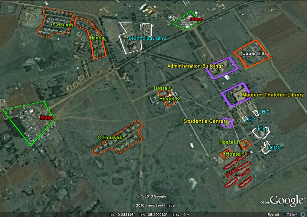 ... Solutions: Viewing Moi University Campus through Google Earth