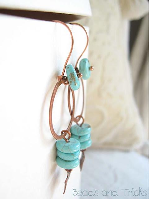 orecchini cerchi turchese