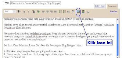 Cara Memasukkan Gambar Ke Postingan Blog Blogger