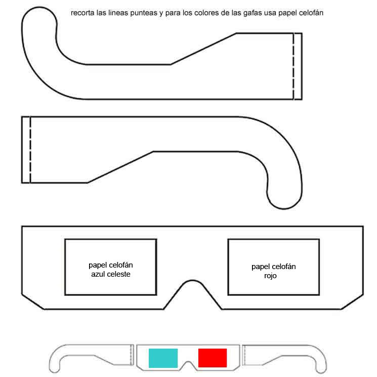 como hacer gafas 3d