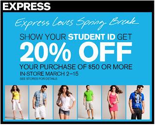 Express december coupons