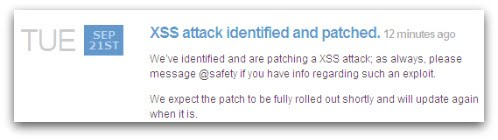 Twitter XSS patchato