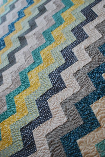 Zig Zag Love Quilt Pattern : Quilt Story: Zig Zag Quilt from Hyacinth Quilt Designs