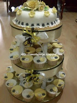 3-tier Fondant Cupcakes and Cake