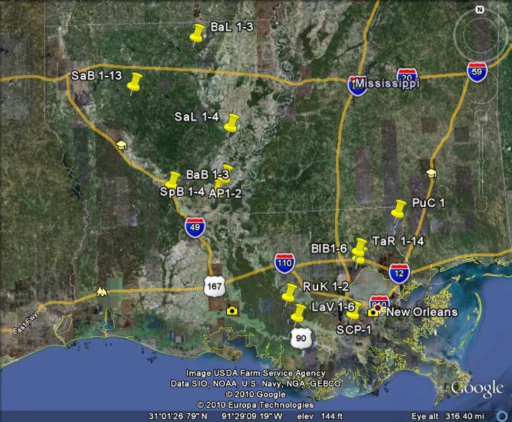Louisiana Purchase Cypress Legacy Maps
