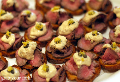 Christmas feasting and the mother of all dinner parties for Beef horseradish canape