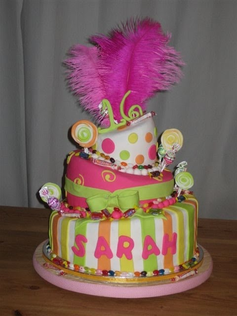 Frost Cake Co Topsy Turvey Sweet 16 Candy Themed Cake