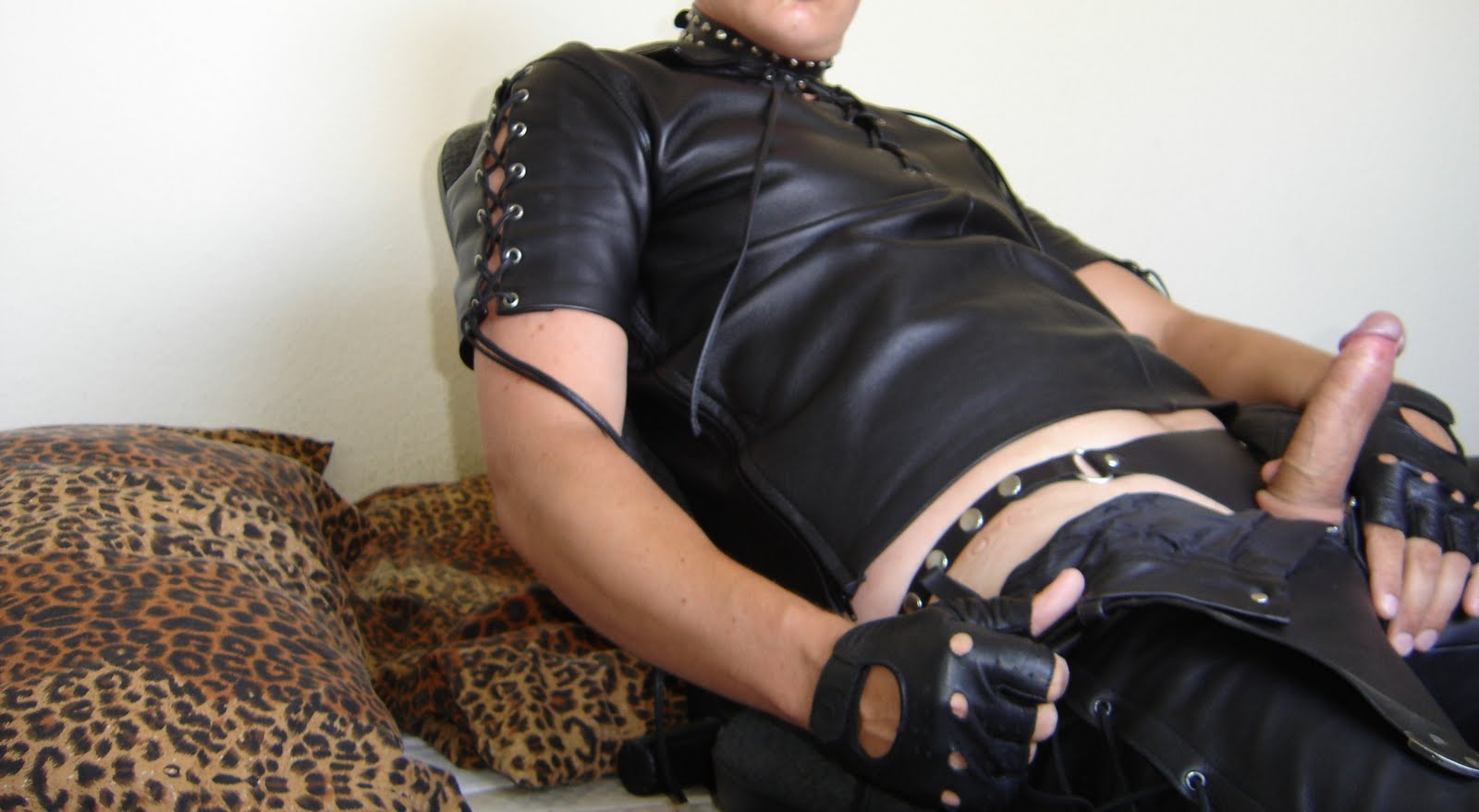from Jackson gay leather stud